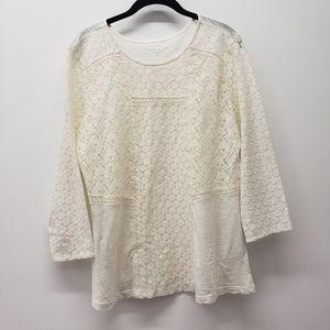 Canyon River Blues lace cotton blend L shirt